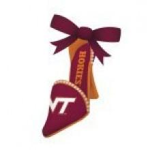 Virginia Tech Hokies High Heeled Shoe Ornament