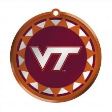Virginia Tech Glass Logo Disc Ornament