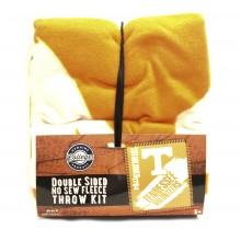 Tennessee Volunteers Double Sided No Sew Fleece Blanket Kit