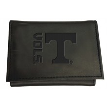 Tennessee Volunteers Black Leather Tri-Fold Wallet