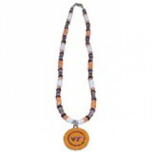 Virginia Tech Hoakies Shell Necklace, 18-Inch, White