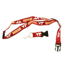 NCAA Virginia Tech Hoakies Double Sided Team Color Breakaway Lanyard Key Chain
