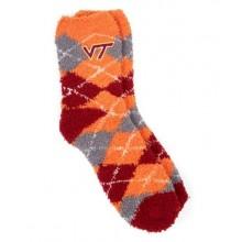 Virginia Tech Hokies Argyle Fuzzy Lounge Socks