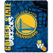 NBA Golden State Warriors Hardknocks Fleece Throw Blanket