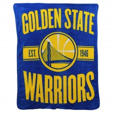 NBA Golden State Warriors Super Plush Fleece Throw Blanket