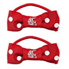 Washington State Cougars Bow Pigtail Holders