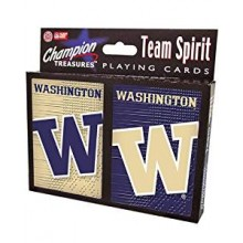Washington Huskies 2 Packs of Playing Cards