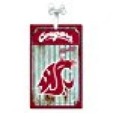 Washington State Cougars Corrugated Metal Ornament