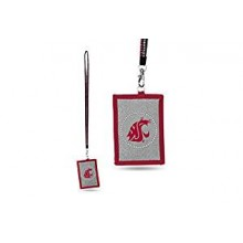 Washington State Cougars Beaded Lanyard I.D. Wallet