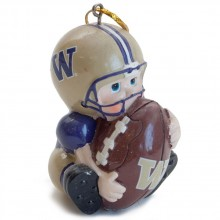 NCAA Washington Huskies Lil' Fan Football Player Acrylic Ornament