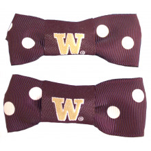 Washington Huskies Bow Pigtail Holders