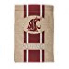 "Washington State Cougars Burlap Vertical Flag 43"" H x 29"" W"