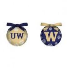 NCAA Licensed Washington Huskies LED Light-up Ornament Set of 2