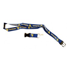 NCAA West Virginia Mountaineers Double Sided Team Color Breakaway Lanyard Key Chain