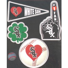 Chicago White Sox 4 Piece Team Magnet Set