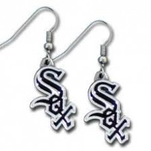 Chicago White Sox Logo Dangle Earrings