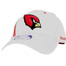 Arizona Cardinals White Sideline S/M Adjustable Hat
