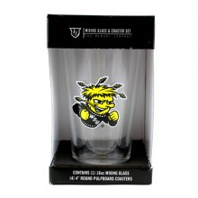 Wichata Shockers Pint and Coaster Set