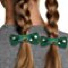 Minnesota Wild Bow Pigtail Holders