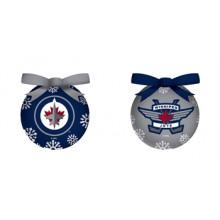 Winnipeg Jets LED Ball Ornaments Set of 2
