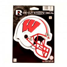 """Wisconsin Badgers 6"""" Helmet Die-Cut Window Decal"""