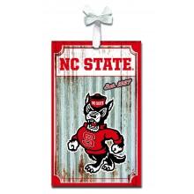 North Carolina State Wolfpack Corrugated Metal Ornament