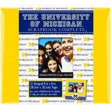 "Michigan Wolverines 8"" X 8"" Complete Scrapbook Kit"