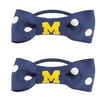Michigan Wolverines Bow Pigtail Holders
