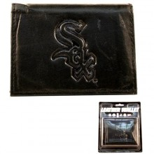 Chicago White Sox Black Tri-Fold Leather Wallet
