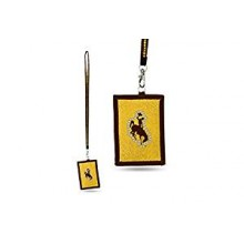 Wyoming Cowboys Beaded Lanyard I.D. Wallet