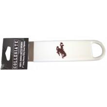 Wyoming Cowboys Vinyl Bottle Opener (White)
