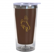 Wyoming Cowboys 16-Ounce Color Change Tumbler with Lid