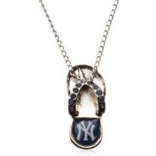New York Yankees Crystal Flip Flop Necklace
