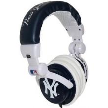 MLB New York Yankees Lightweight Deep Bass Stereo Headphones