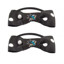 San Jose Sharks Bow Pigtail Holders