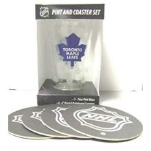 Toronto Maple Leafs Pint and Coaster Set