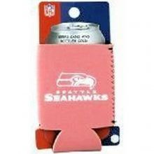Super Bowl Champions Seattle Seahawks Licensed Pink Neoprene Set of 4 Can Koozie Coolers