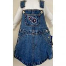 NFL Officially Licensed Tennessee Titans Bib Overall Jean Skirt Dress (3T)