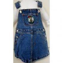 NBA Officially Licensed Boston Celtics Bib Overall Jean Skirt Dress (3T)