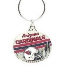NFL Officially Licensed Oval Pewter Key Ring KeyChain (Arizona Cardinals)