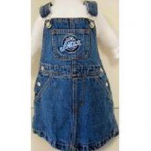 NBA Officially Licensed Utah Jazz Bib Overall Jean Skirt Dress (2T)