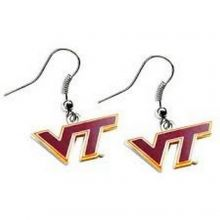 NCAA Officially Licensed Logo Dangle Earrings (Virginia Tech Hokies)