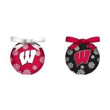 bbsports Wisconsin Badgers LED Ball Ornaments Set of 2
