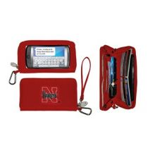 Charm14 NCAA Nebraska Cornhuskers Deluxe Cell Phone Wallet-Fits All Phones