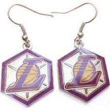 Siskiyou NBA Officially Licensed Logo Dangle Earrings (Los Angeles Lakers)