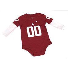 Bama NCAA Licensed Oklahoma Sooners Layered Look Bodysuit (12 Months)