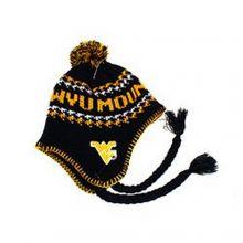 NCAA Officially Licensed West Virginia Mountaineers Pom Tassel Beanie Hat Cap Lid