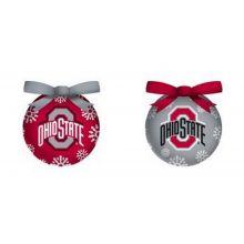 NCAA Licensed LED Light-up Ornament Set of 2 (Ohio State Buckeyes)