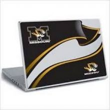 NCAA Officially Licensed Large Removable Laptop Wear Stickers (Missouri Mizzou Tigers)