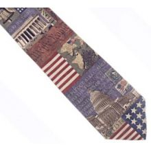 Eagles Wings in God We Trust Woven Polyester Necktie